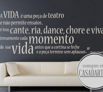 A Vida é um Teatro em Vinil Autocolante