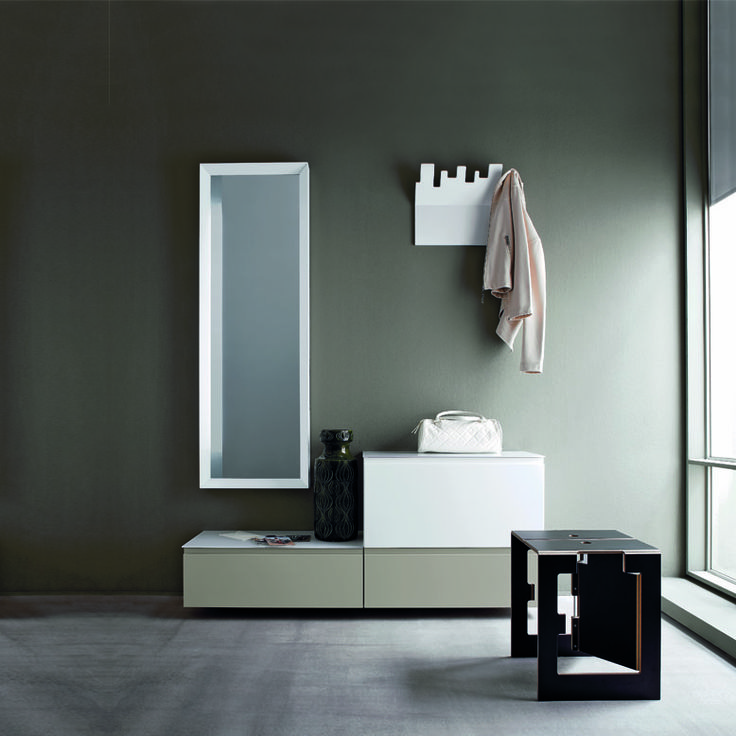 Hallway furniture set with mirror, cabinets, hangers and console at My Italian Living Ltd