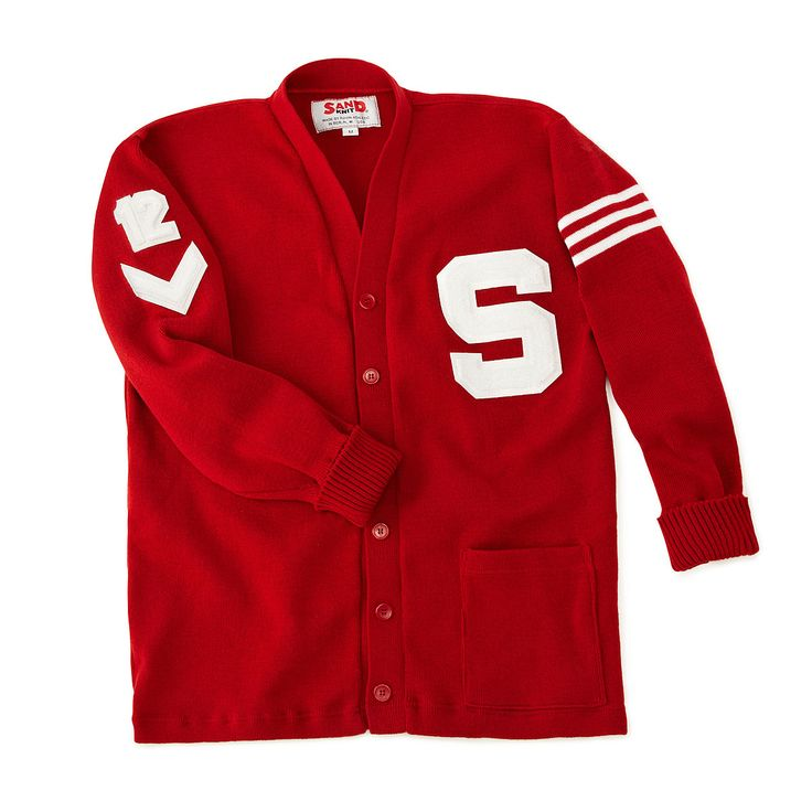 CUSTOMIZED LETTERMAN SWEATER | Custom Varsity Cardigan With Letter & Patches | UncommonGoods