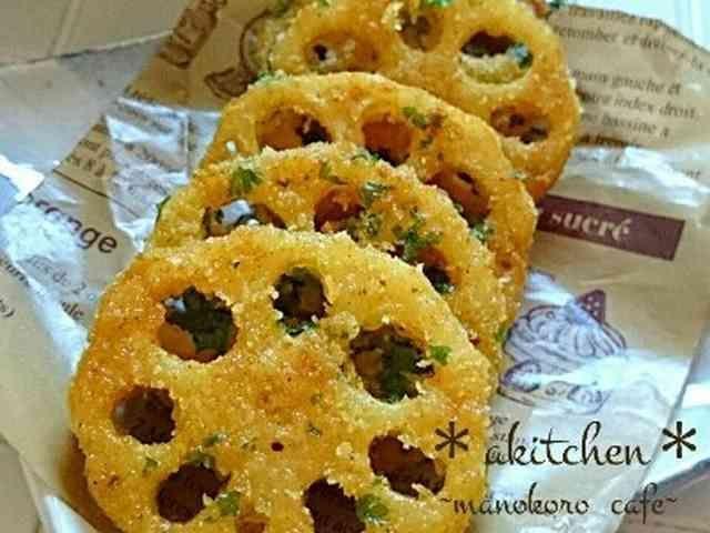 簡単♪レンコンのサクサクカレーチーズ焼きの画像