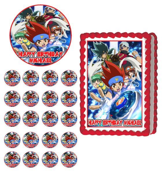 25 best ideas about beyblade cake on pinterest beyblade for Anime beyblade cake topper decoration set