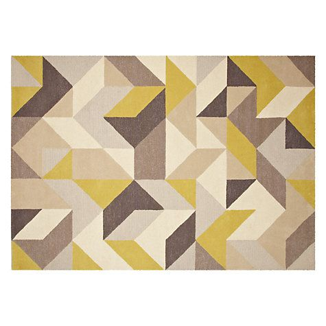 Buy John Lewis Holm Rug, Putty/Citrine Online at johnlewis.com