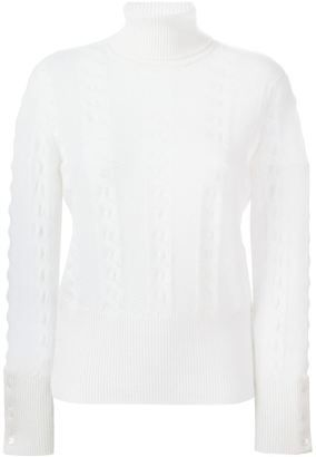 Thom Browne roll neck sweater - Shop for women's Sweater - NUDE