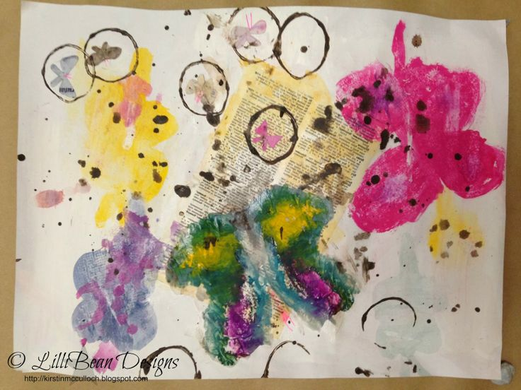 CREATING WITH KIDS Bean + I created Ink Blot Butterflies.  LISTENING TO THE SQUEAK INSIDE art by Kirstin McCulloch of LilliBean Designs: ☆ Bean + Me + LifeBook 13 [Creating with Kids]