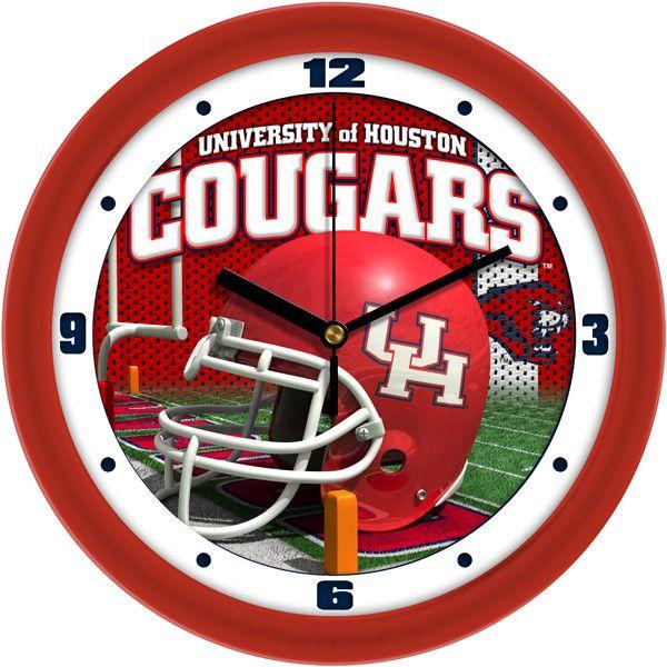Mens Houston Cougars - Football Helmet Wall Clock