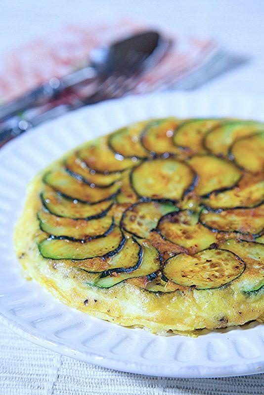 Zucchini Petals Frittata Recipe from Apron Strings.