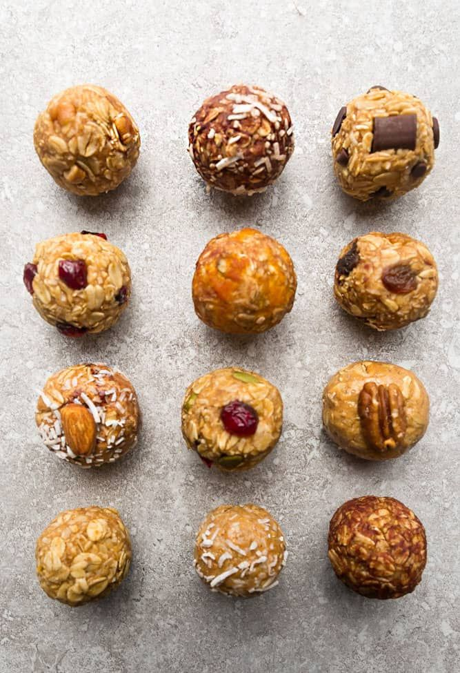 No Bake Energy Bites - the perfect healthy snack for fueling up or packing on the go. Best of all, easy to customize with these favorite delicious flavors.