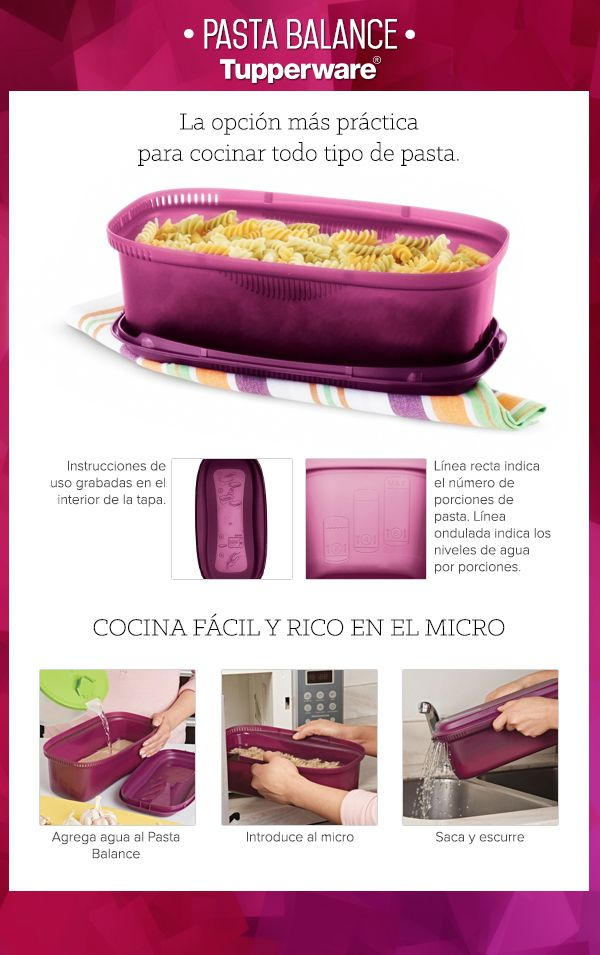 110 best tupperware mexicano images on pinterest belize for Ideas para cocinar pasta