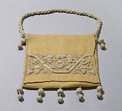 Casalguidi embroidered bag, Italian, c. 1900.