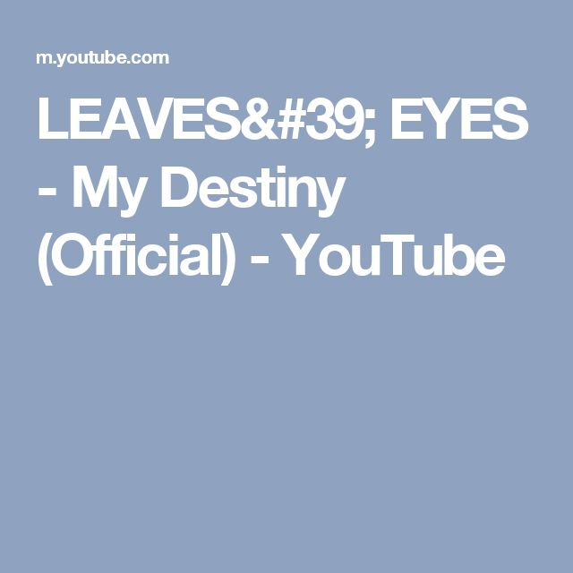 LEAVES' EYES - My Destiny (Official) - YouTube