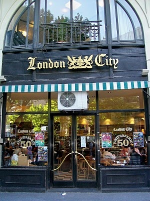 "LONDON CITY CAFÉ, Buenos Aires.   Known as ""the London"", in Av. de Mayo, it was opened in 1954 and it is frequently visited by politicians, journalists and intellectuals for meetings in the city downtown. Julio Cortázar placed some of the characters of his novel ""Los Premios"" in that café."
