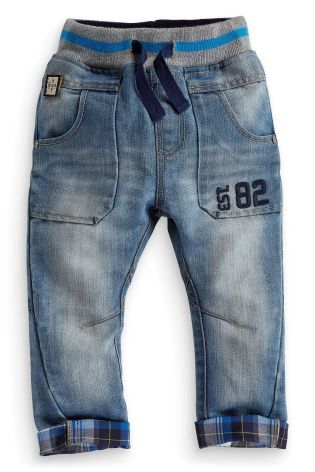 Buy Check Trim Jeans (3mths-6yrs) online today at Next: United States of America