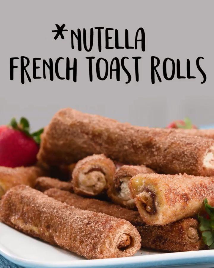 #Nutella Frensh #Toast #Rolls