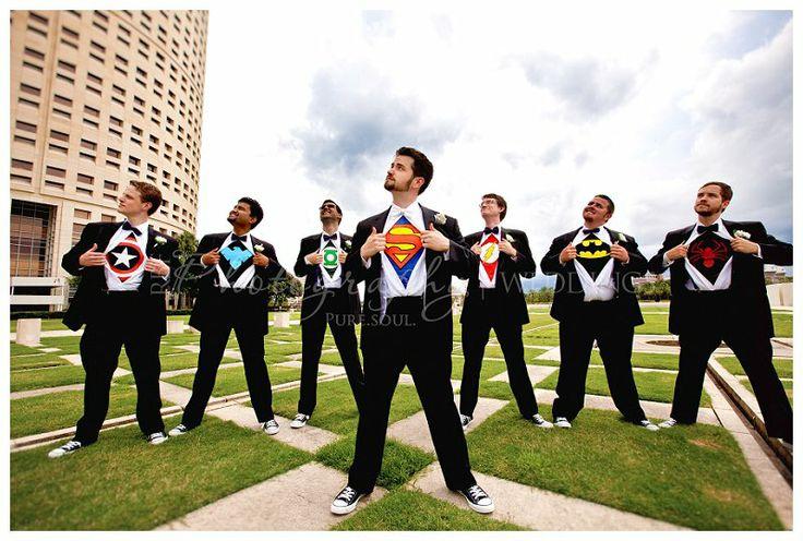 #Superhero #groomsmen in Downtown Tampa {RBF Photography} #wedding