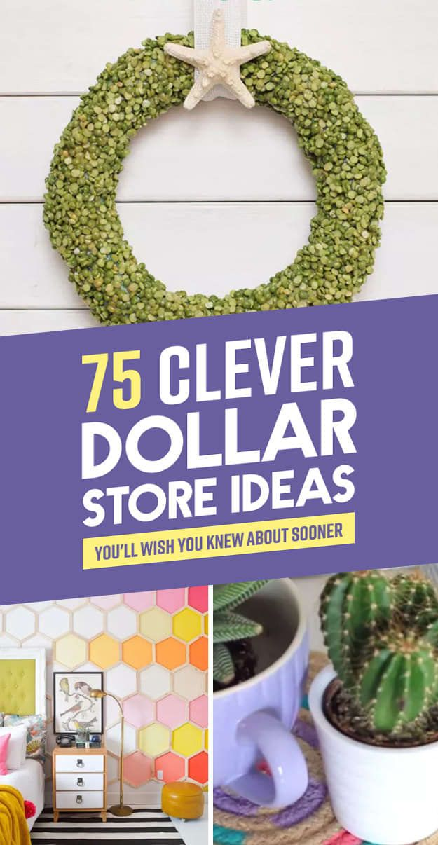 """75 Clever Dollar Store Ideas That Will Have You Saying, """"How'd They Think Of That?"""""""