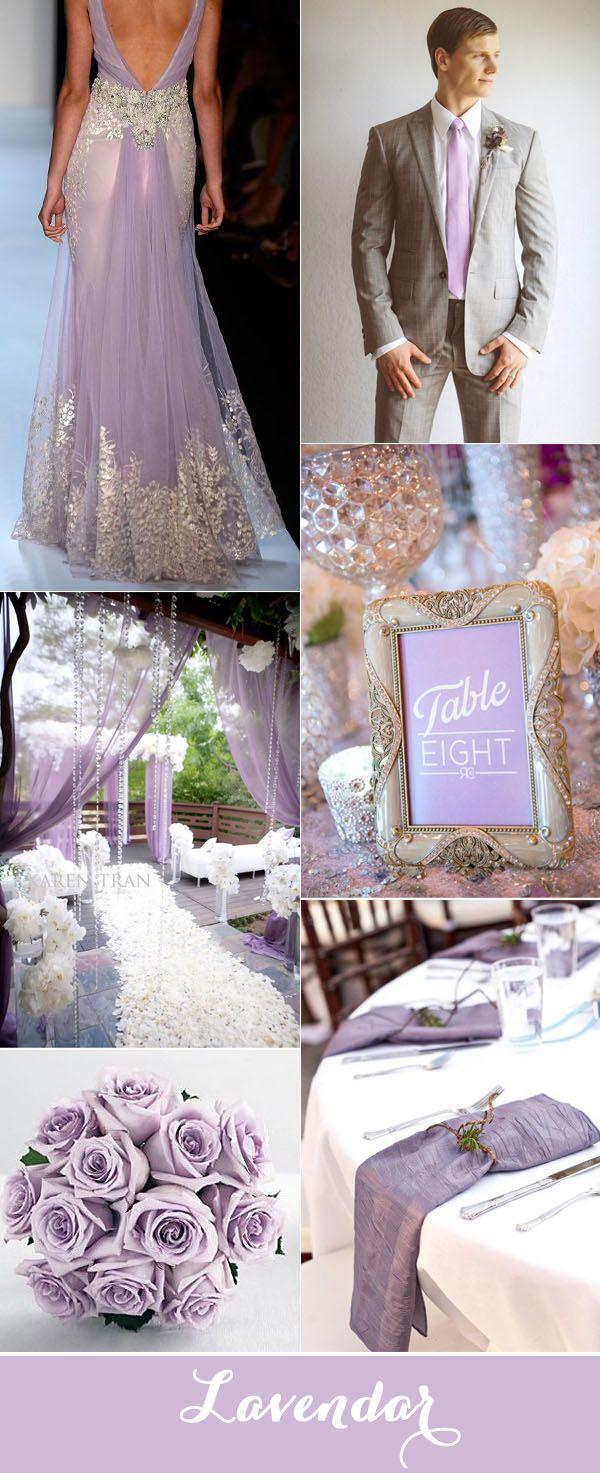 elegant lavendar and silver wedding inspiration