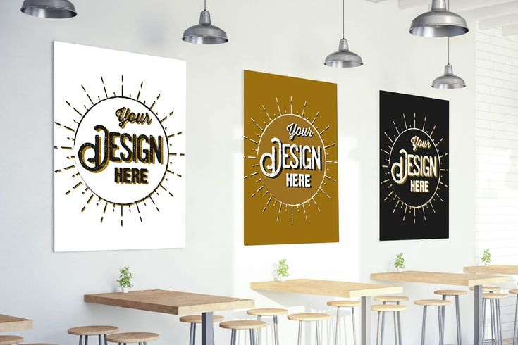 Coasters Mockup Wall Bar Indesign Layout Poster On