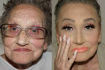 Wow, that is amazing. The power of makeup.