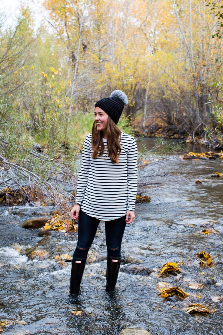 the great outdoors in Sun Valley #stripes #travel #fall