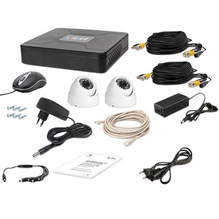 Комплект проводного видеонаблюдения Tecsar 2OUT-DOME