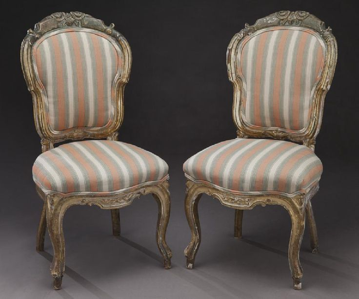 Lot: Pr. 18th C. parcel-gilt parlor chairs,, Lot Number: 0355, Starting Bid: $50, Auctioneer: Dallas Auction Gallery, Auction: The Philip Maia Collection - Session Two, Date: January 26th, 2017 CST