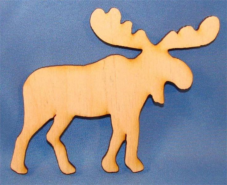 Unpainted Moose Wood Cutout | Wood Cutouts | Wooden Shapes | Unfinished Wood Cutouts and Shapes