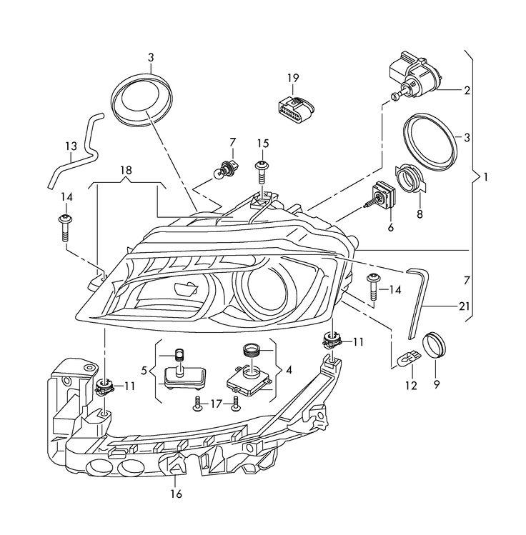 Audi A3 Headlight Assembly