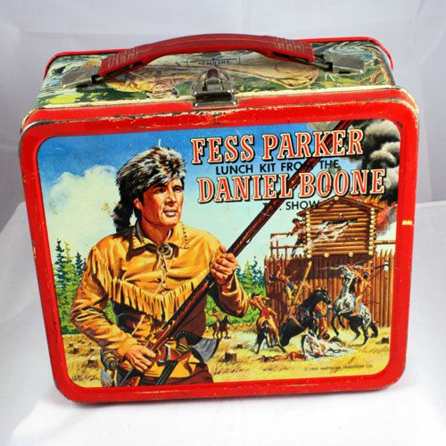 "1965 Fess Parker Lunch Kit from the Daniel Boone Show. Woo Hoo! Finally have one! "")"