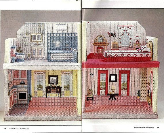 14 best cabin images on pinterest plastic canvas patterns plastic canvas crafts and canvas - The dollhouse from fairy tales to reality ...