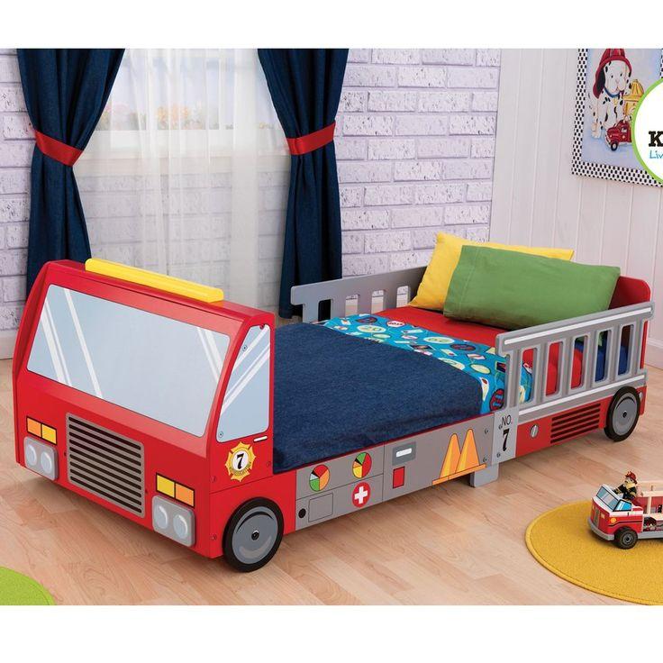 KidKraft Fire Truck Red Platform Bed