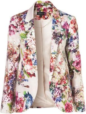 Topshop Co-Ord Garland Floral Blazer, $130