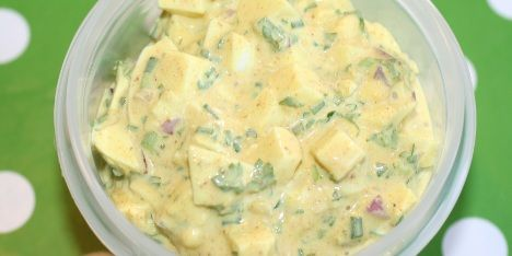 Æggesalat med creme fraiche