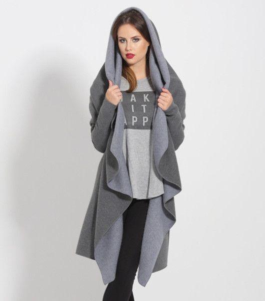 Płaszcz dresowy Ruffled Dark Grey w StoneSkirts na DaWanda.com