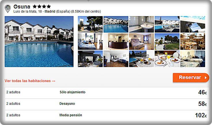 Hotel Osuna  **** Luis de la Mata, 18 ‐ Madrid (España) (8.58Km del centro)