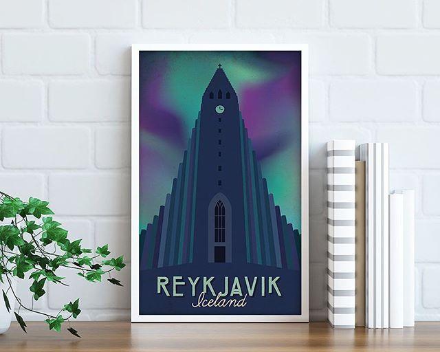 Reposting @heydaydesignsuk: The start of my Iceland collection on @Etsy! ❄️ _ _ #travel #travelposter #travelillustration #vintageposter #poster #art #artwork #wallart #home #gifts #travelling #holiday #vacation #illustration #illustrator #design #print #instaart #digitalart #vintage #retro #aurora #iceland #customillustration #etsy #etsyseller #travelphotography  #heydaydesignsuk #follow #reykjavik