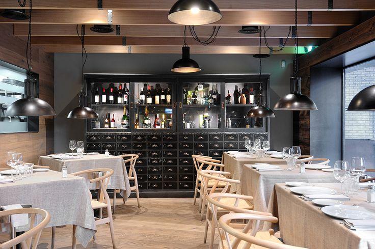 Salón del restaurante La Máquina de Chamberí