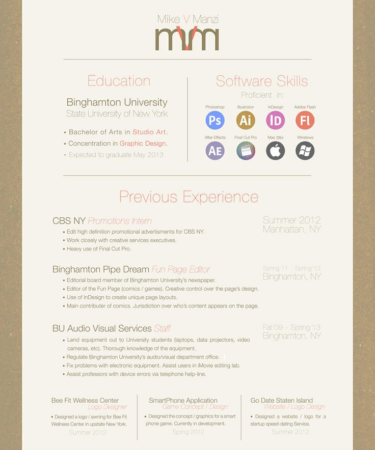 Best Creative Resumes Images On   Resume Design Design
