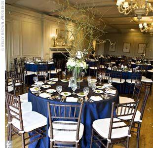 Navy wedding tables