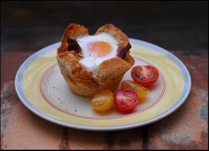 Egg, bacon og toast - tre ting på en gang