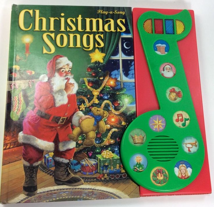 PI KIDS Christmas Songs Play a Song Book Sound Bar 10 Holiday Songs 2002 Battery #PublicationsInternationalLTDPIKIDS
