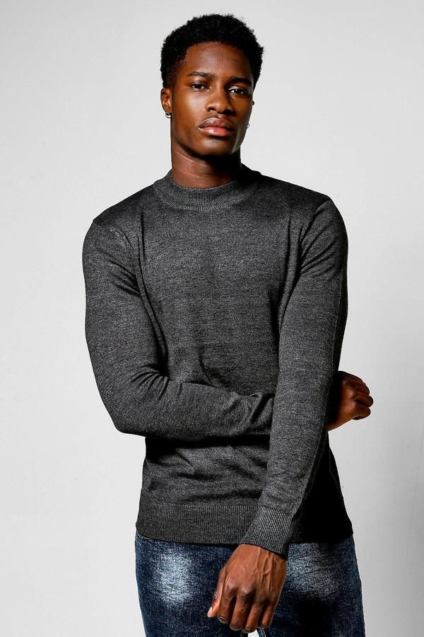 boohoo Long Sleeve Knitted Turtle Neck Jumper #men #fashion #male #style #menfashion #menwear #menstyle Klick to see the Price