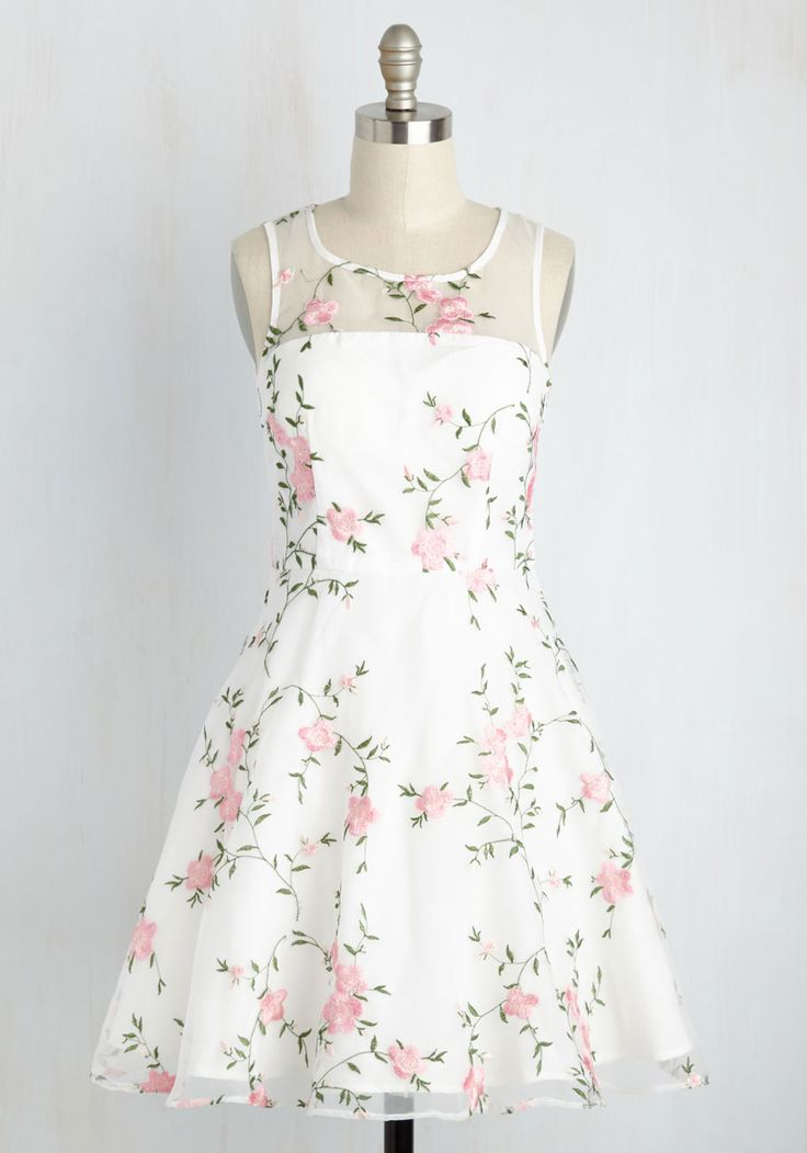 High Tea Homage Dress. The conversation will turn to this delicate white dress as soon as you join the table! #multi #modcloth
