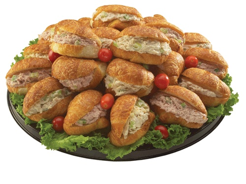 Croissant Sandwich Tray Freshly Prepared Ham Salad Turkey Salad And All White Meat Rotisserie