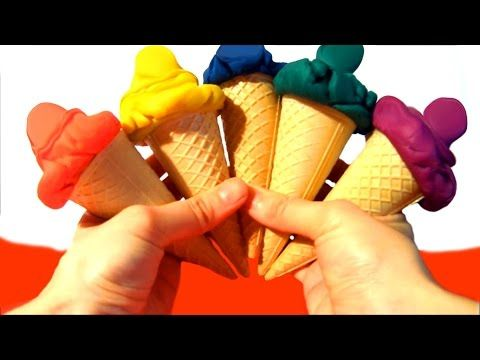 Play-Doh Rainbow Ice Cream Cone Cars Surprise to Play & Learn Colours Video for Funny Toyo Surprise - YouTube