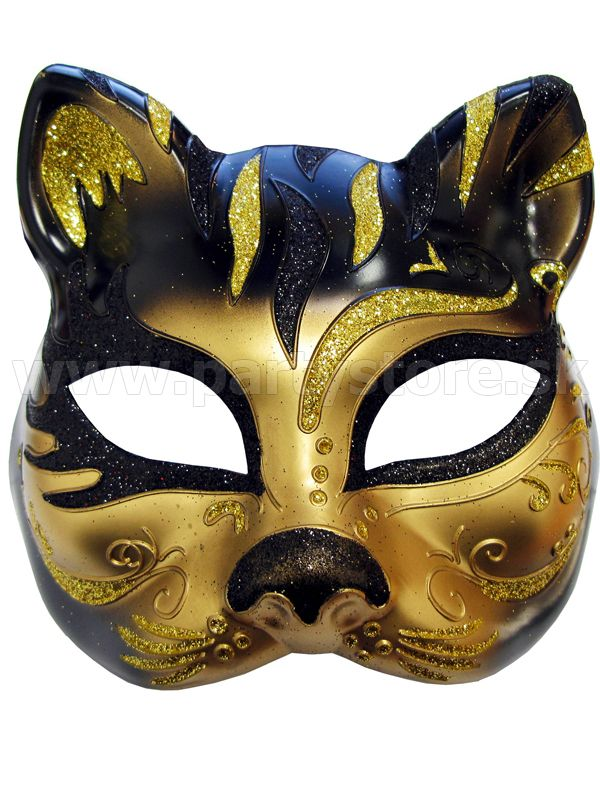 "Maska - Škraboška "" Gatto "" Elegance collection Venetian Mask"