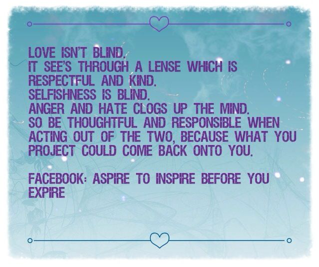 LOVE versus SELFISHNESS quote