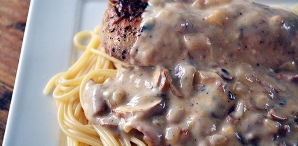 Spaghetti Met Kip In Champignonsaus recept   Smulweb.nl