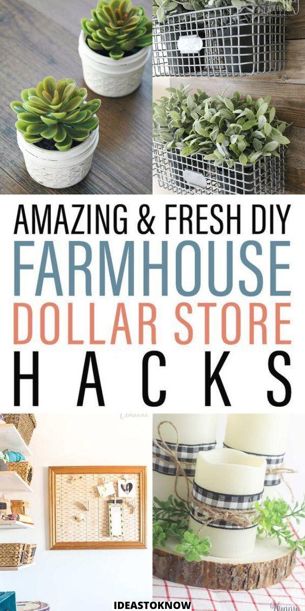 31 Dollar Store Diy Farmhouse Decor Ideas In 2021 Diy Dollar Store Crafts Diy Farmhouse Decor Dollar Stores