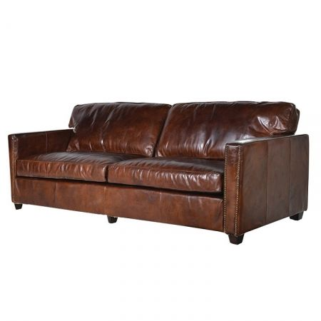 Harper brown leather 3 seater sofa - £1,733.00 Shop > http://www.exclusiveinteriors.co.uk/living-room/sofas/harper-brown-leather-3-seater-sofa