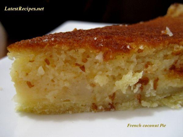 French Coconut Pie | Latest Recipes